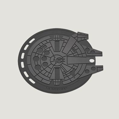 Star Wars Le Creuset Millennium Falcon Trivet