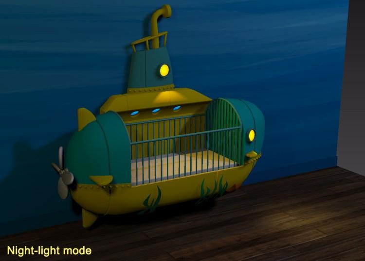 Submarine Crib Wall Nightlight