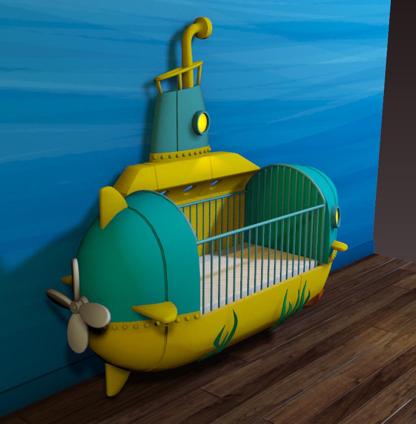 Submarine Crib Wall