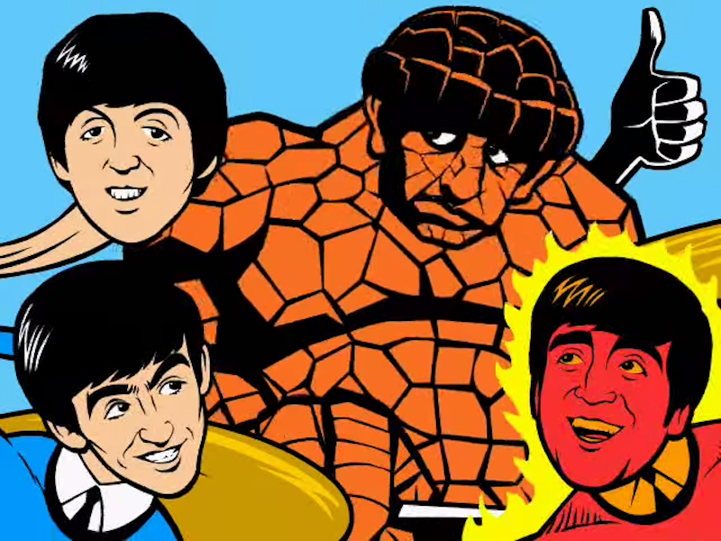 The Beatles Reimagined as 'The Fantastic Four'