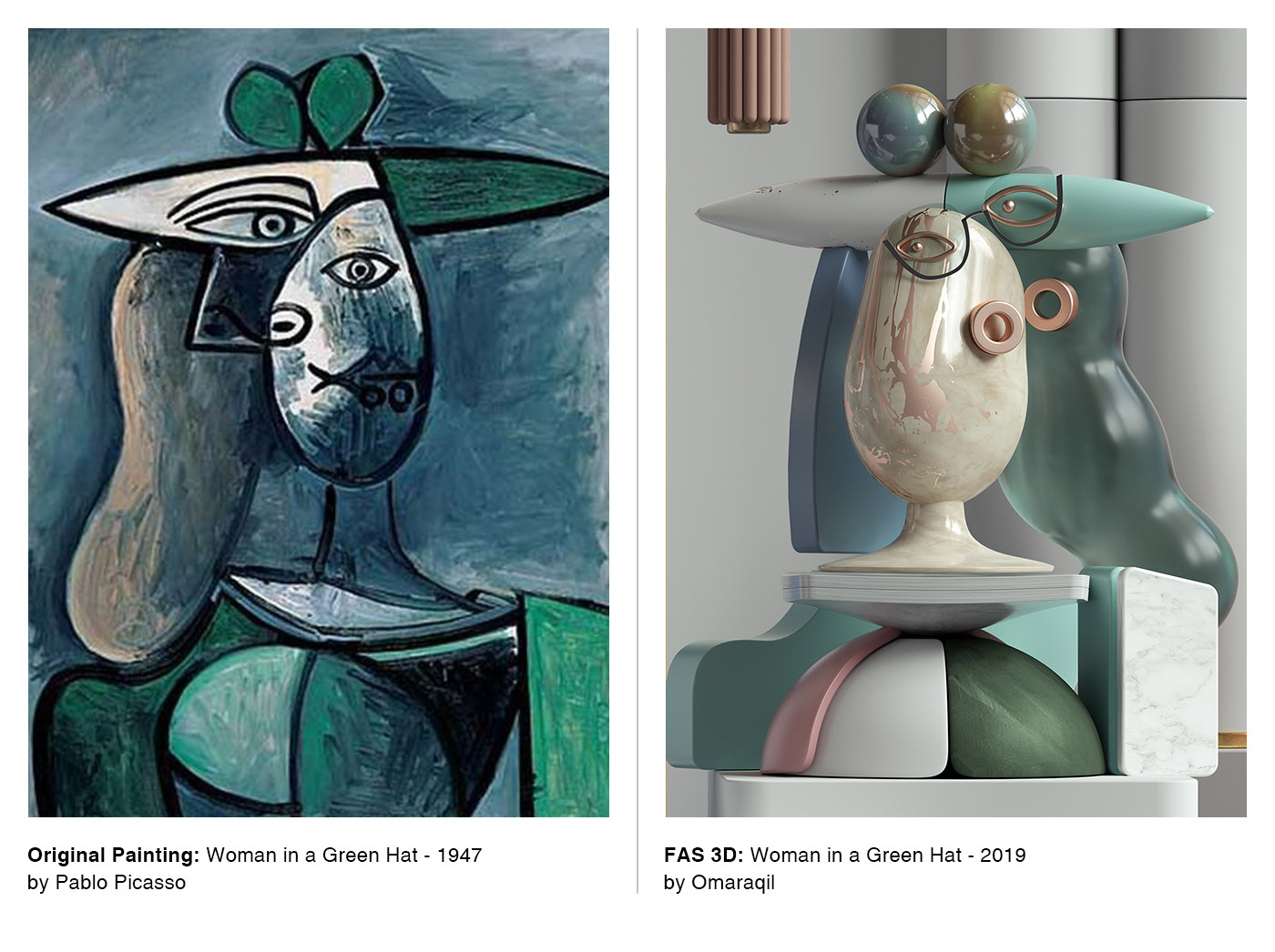 Classic Picasso Paintings Turned Into 3D Sculptures