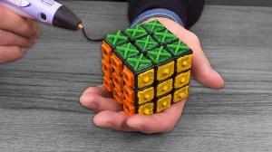 3D Printing Pen Rubiks Cube for Blind