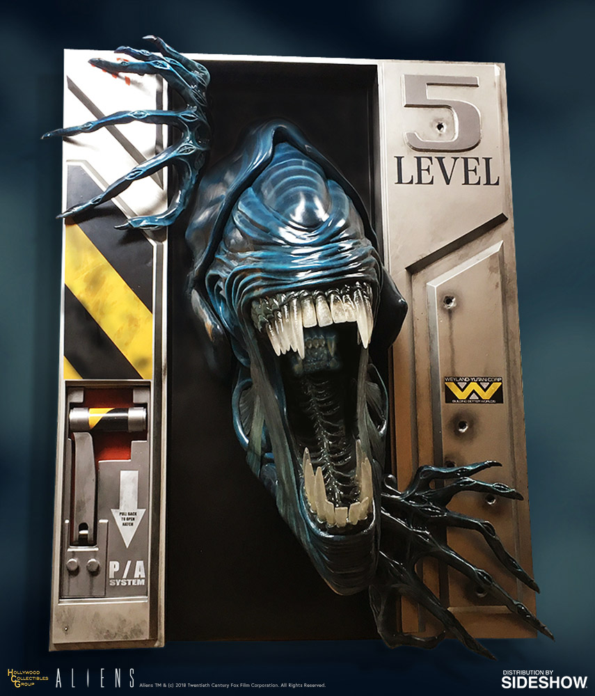 A Highly Realistic, Life-Size Wall Sculpture of The Alien Queen From the Iconic Ripley Battle Scene in 'Aliens'