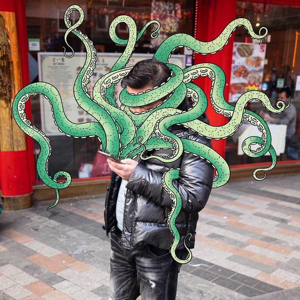 Andrew Rae Phone Buddies Tentacle Creature