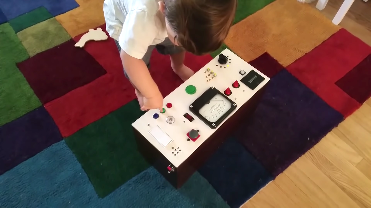 Creative Dad Builds an Interactive Electronic Busy Box From Scratch for His Button-Pushing Toddler Son