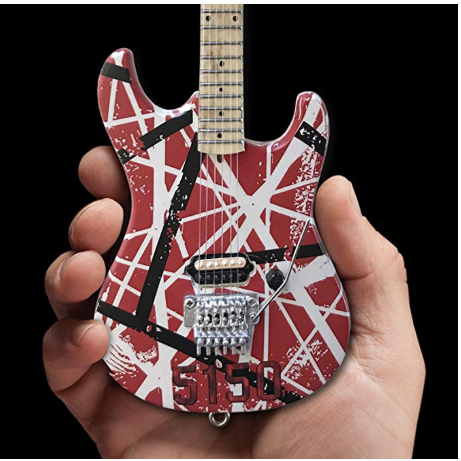 EVH Red and White Reflective Frankenstein