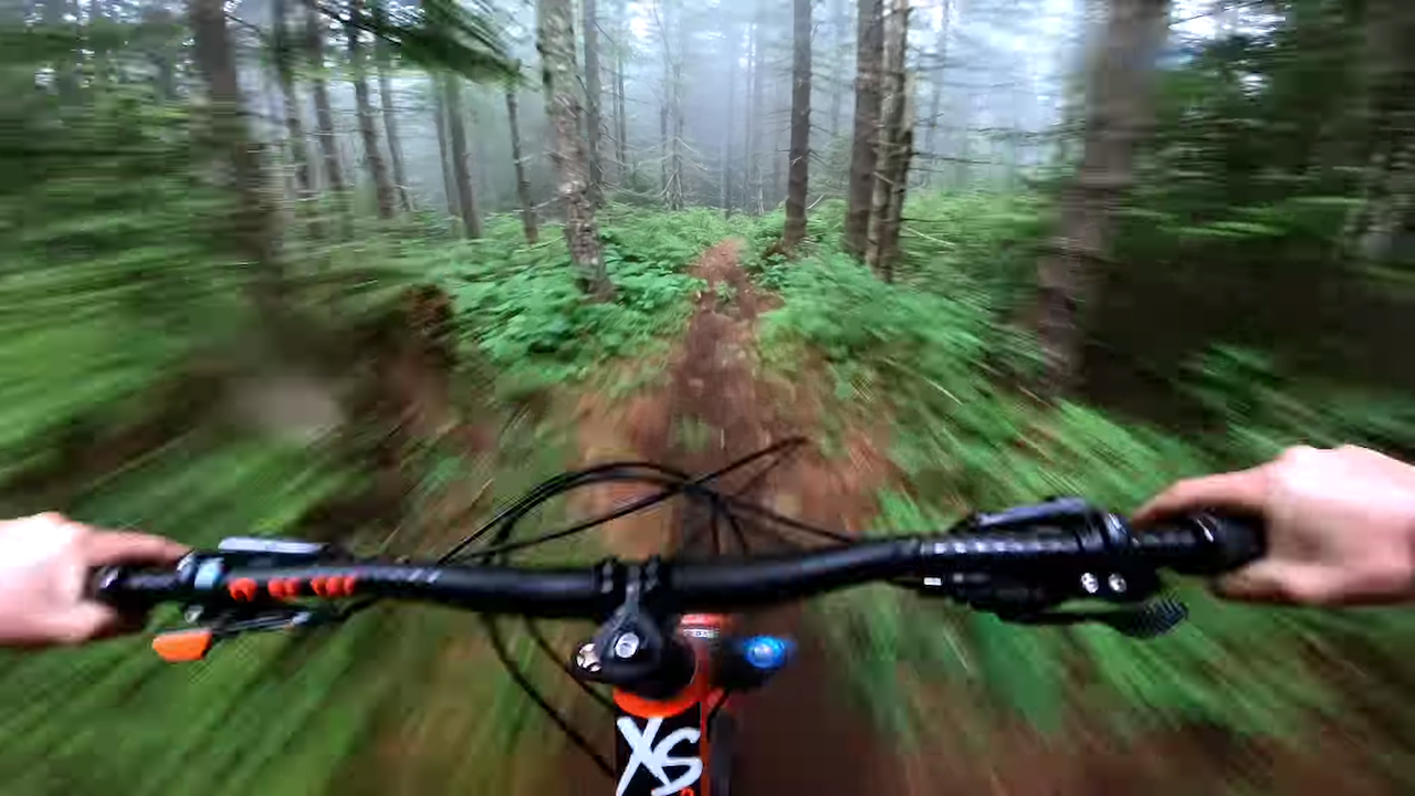 Bicyclist Captures Thrilling GoPro Footage While Riding Through a Foggy Vancouver Island Forest