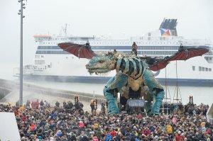 Giant Fire Breathing Dragon Calais