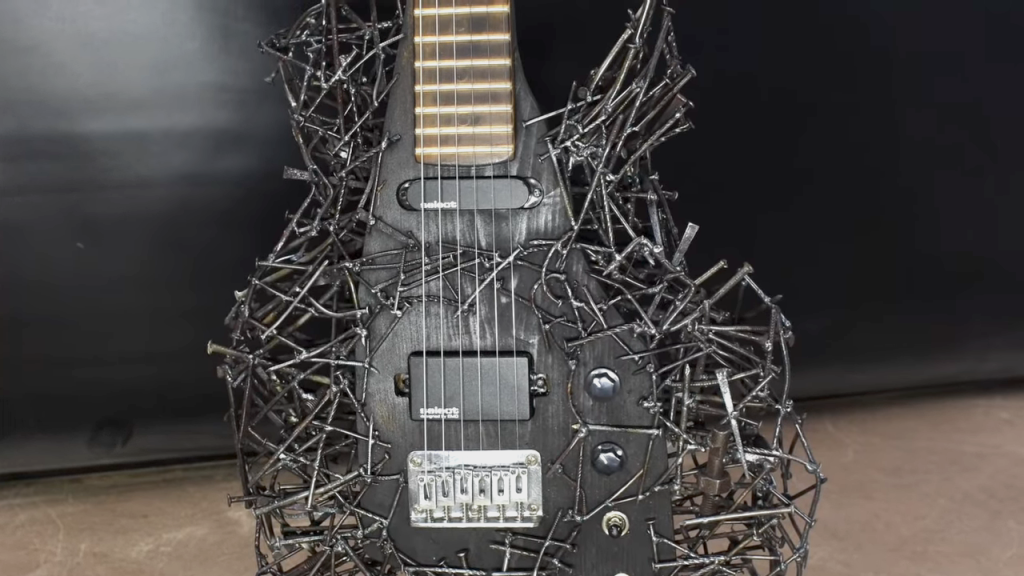Guitar Frame Made Out of Reclaimed Nails