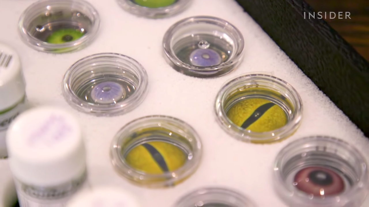 How Contact Lenses Are Made For Movies Array