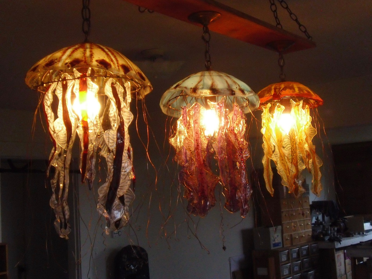 Jellyfish Lamps Set of 3