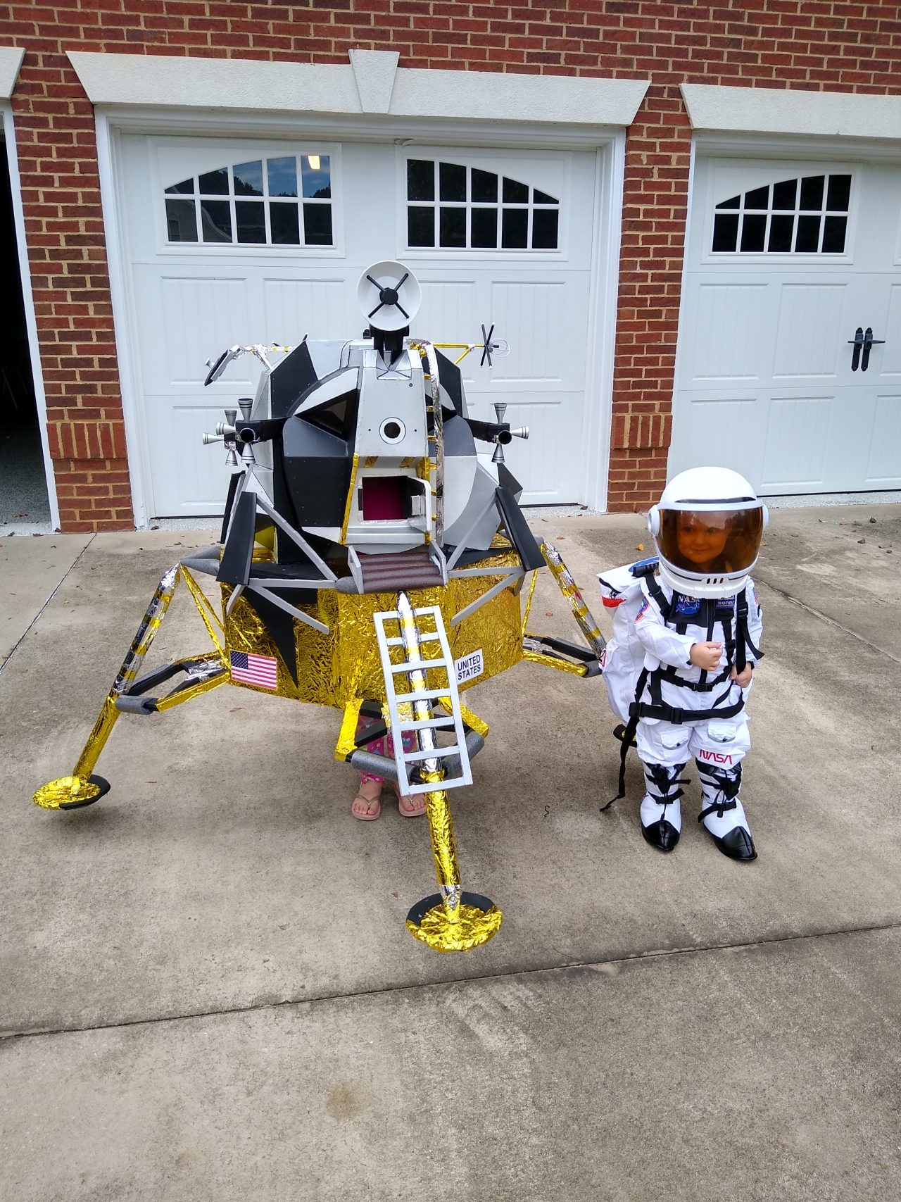 Lunar Module and Astronaut Kid Costumes