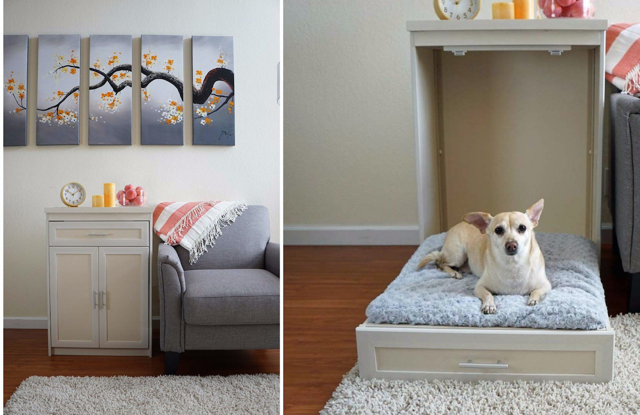 A Handy Fold-Out Murphy Bed For Dogs