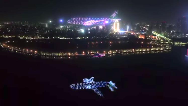 Passenger Plane Reflection LED 800 Drones T Motor