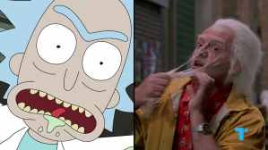 Rick and Morty Back to the Future Rick and Doc