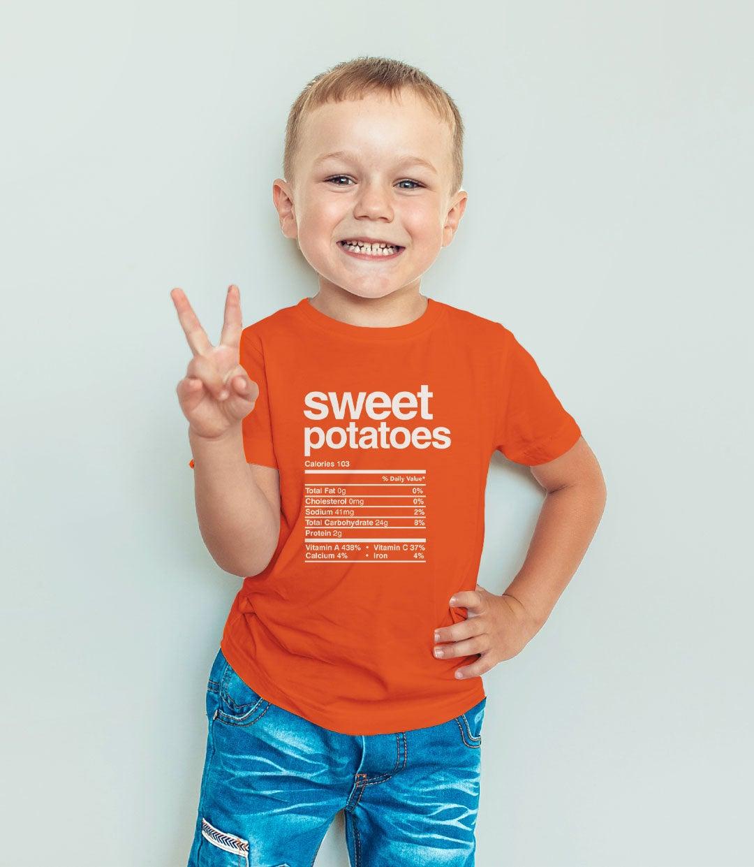 Sweet Potatoes Nutrition Tshirt