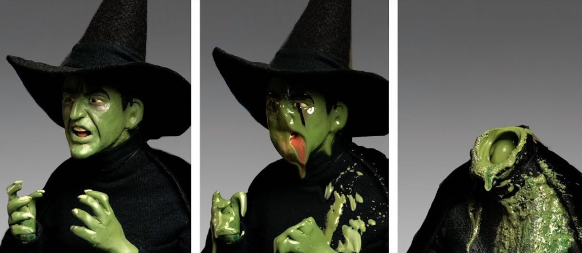 Wicked Witch Made From Crayons