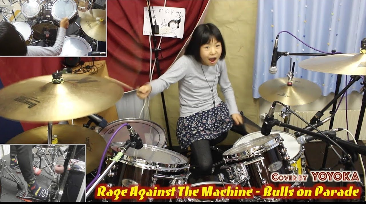Ten Year Old Drummer Impressively Plays a Brilliant Cover of 'Bulls on Parade' by Rage Against the Machine ...