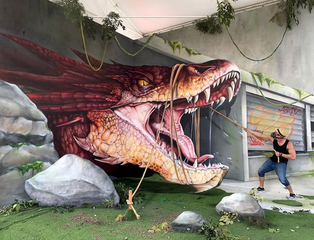 Incredible 3D Illusion Murals That Jump Off the Wall