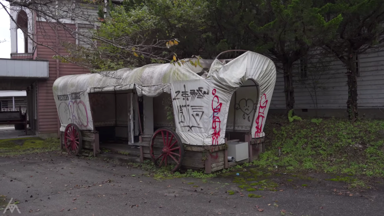 Abandoned Western Village Japan Covered Wagon