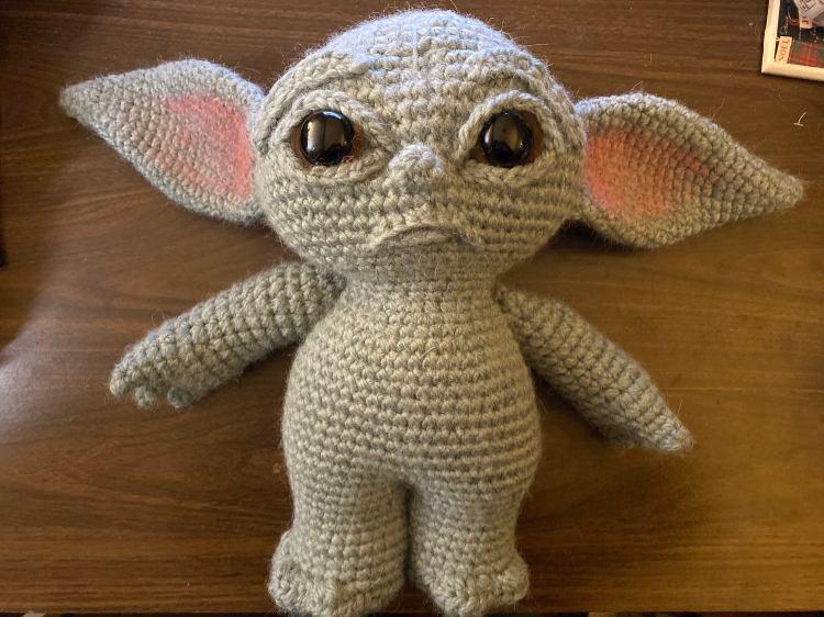 Baby Yoda Pattern Naked
