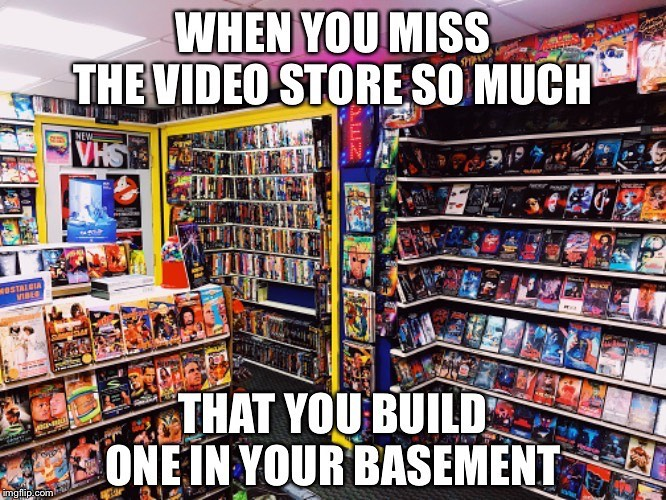 Movie Fan Turns His Basement Into a Perfect Replica of a 1980s Video Store for His Giant Video Collection