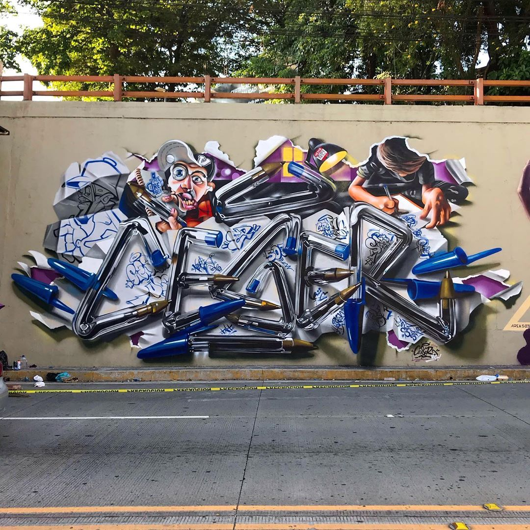 Artist Creates Hyper-Realistic Graffiti of His Name