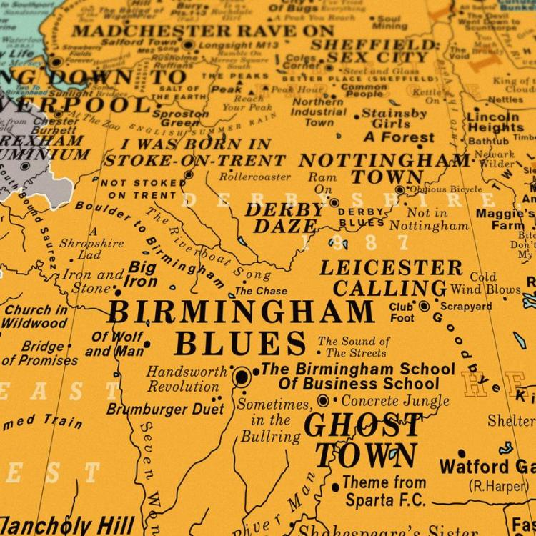Dorothy UK Map Birmingham Blues