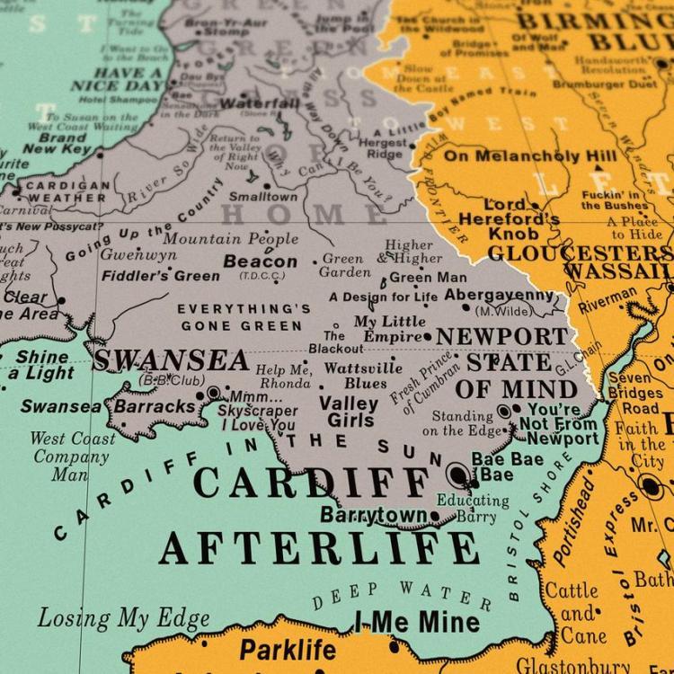 Dorothy UK Map Cardiff Afterlife