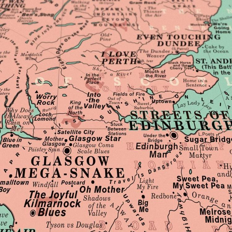 Dorothy UK Map I Love Perth