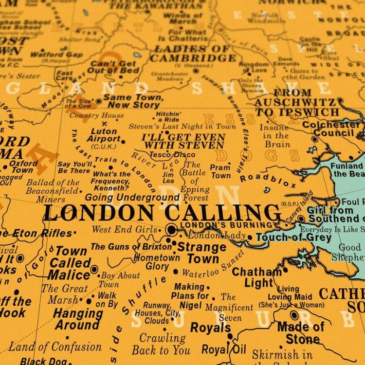 Dorothy UK Map London Calling