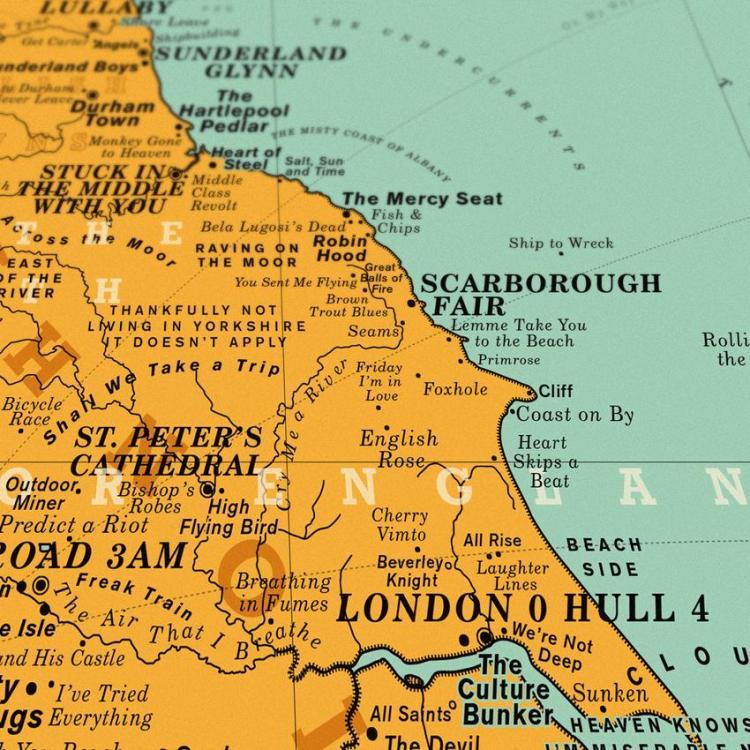 Dorothy UK Map Scarborough Fair