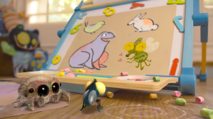 Lucas the Spider Draws His Friend the Fly