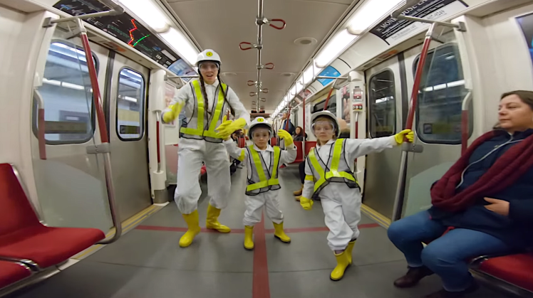 Mom and Kids Recreate Beastie Boys Intergalactic Video