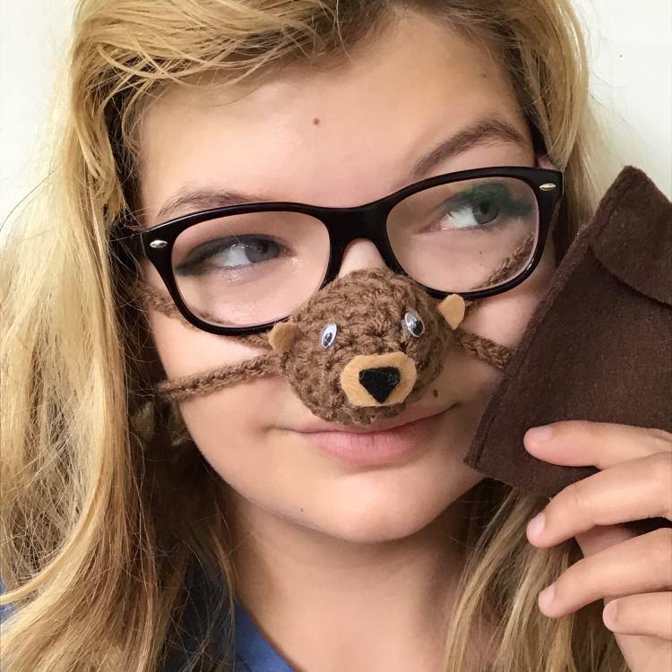 Nose Warmer Brown Bear