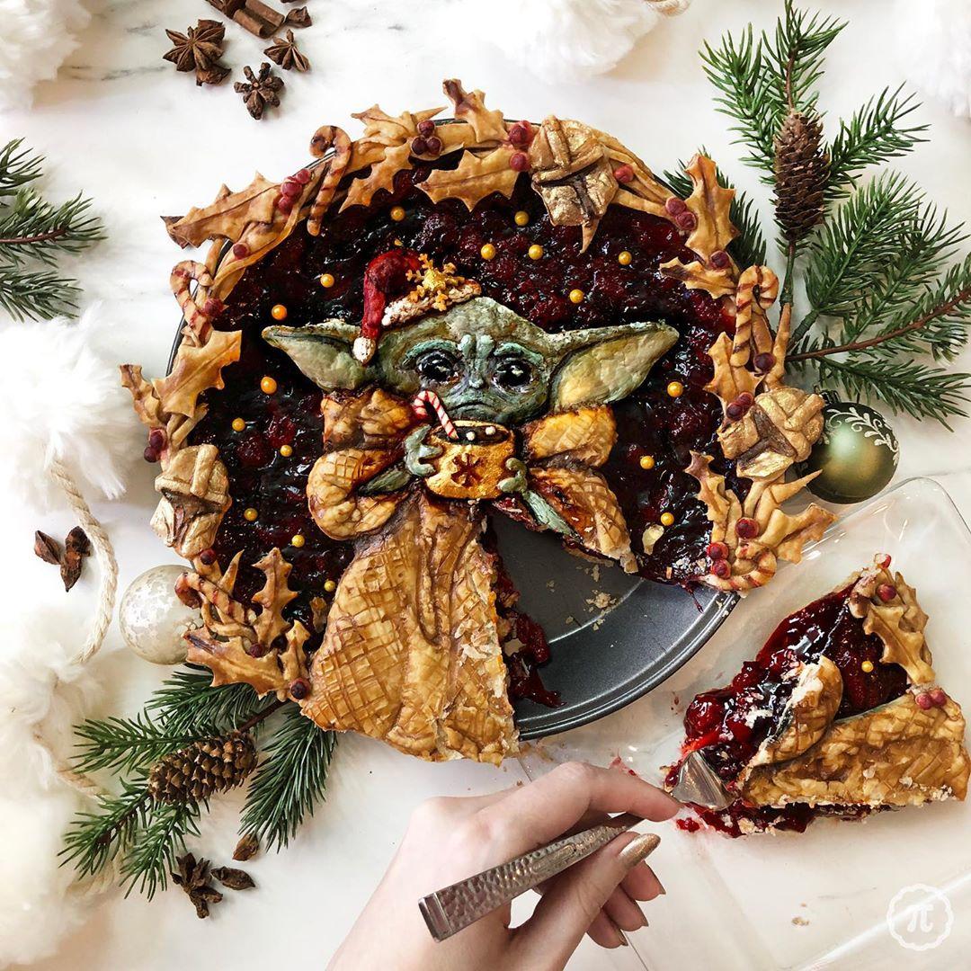 Raspbaby Yoda Pie Slice