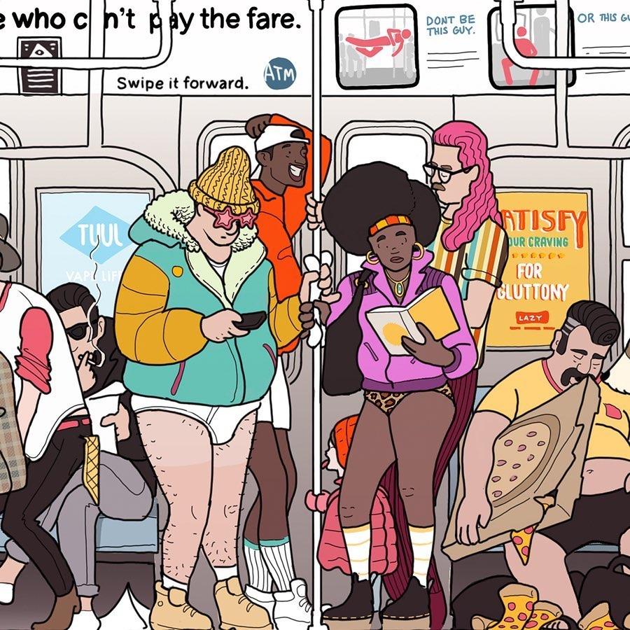 Subway Creatures Poster David Regone