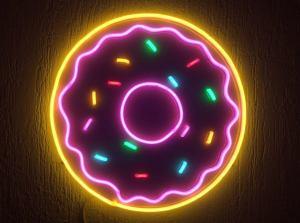 Unbreakable Neon Donut Sign