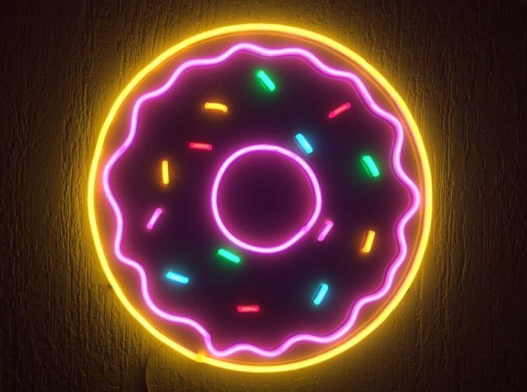 Unbreakable Neon Donut Sign