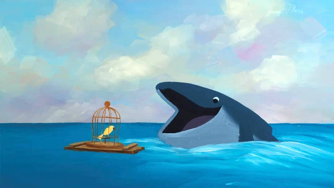 A Caged Songbird Helps an Abandoned Young Whale Find His Own Voice in a Touching Animated Short