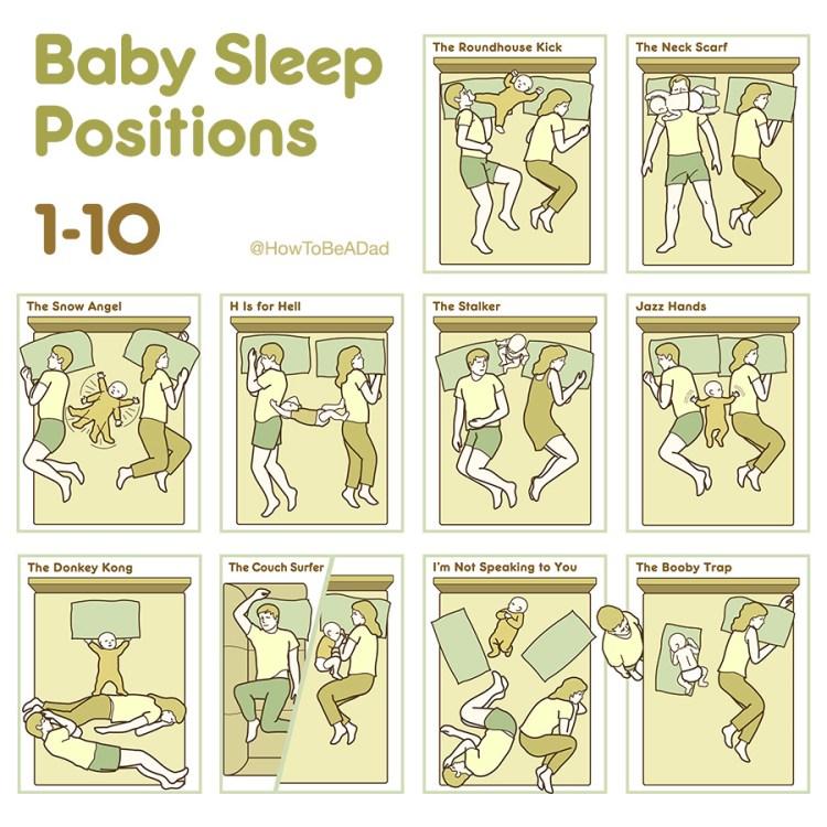 Baby Sleep Positions 1 to 10