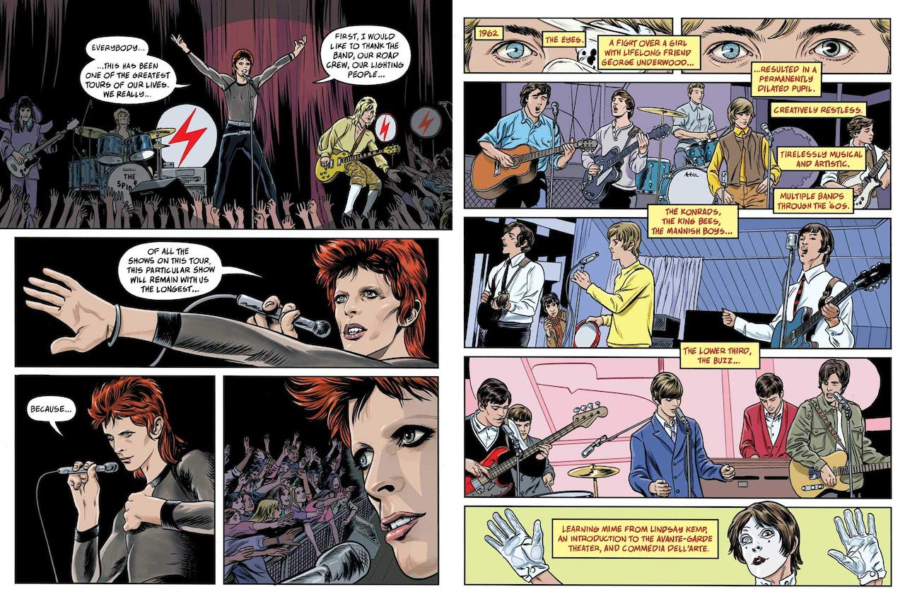 David Bowie Graphic Novel Ziggy Stardust Panel