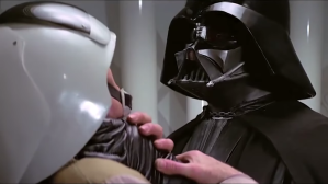Darth Vader voiced by Frank Costanza
