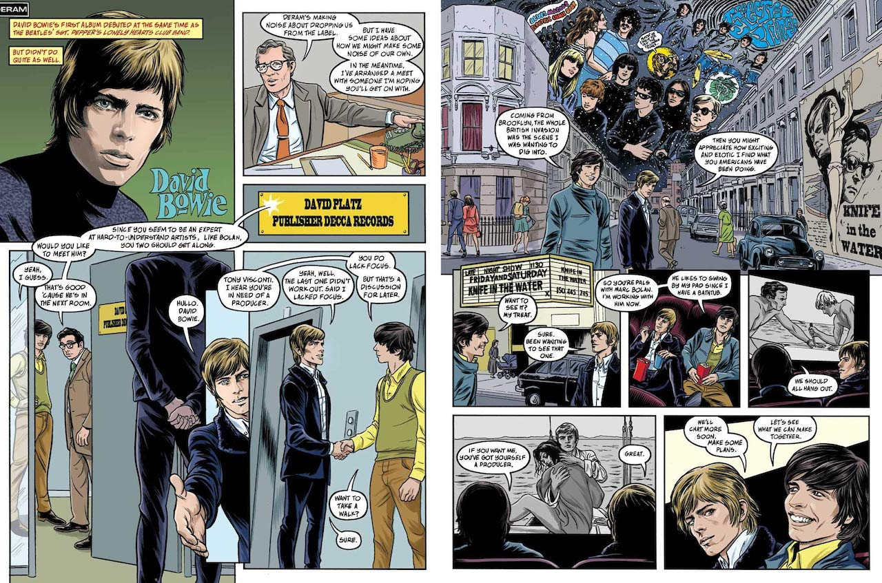David Bowie Graphic Novel Mick Jagger