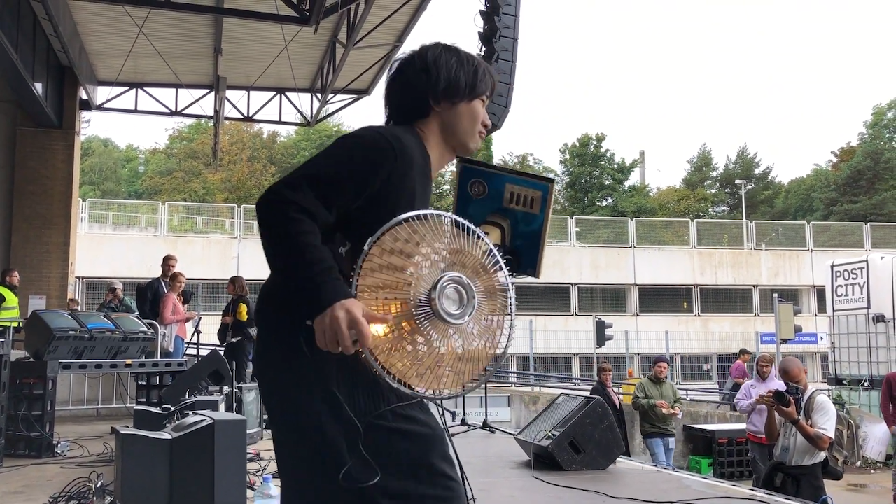 Incredible Electric Fan Instrument That Can Be Played Either Like a Guitar or an Upright Bass