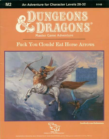 Classic Dungeons and Dragons Modules Hilariously Renamed to Match What the Art Shows on the Cover