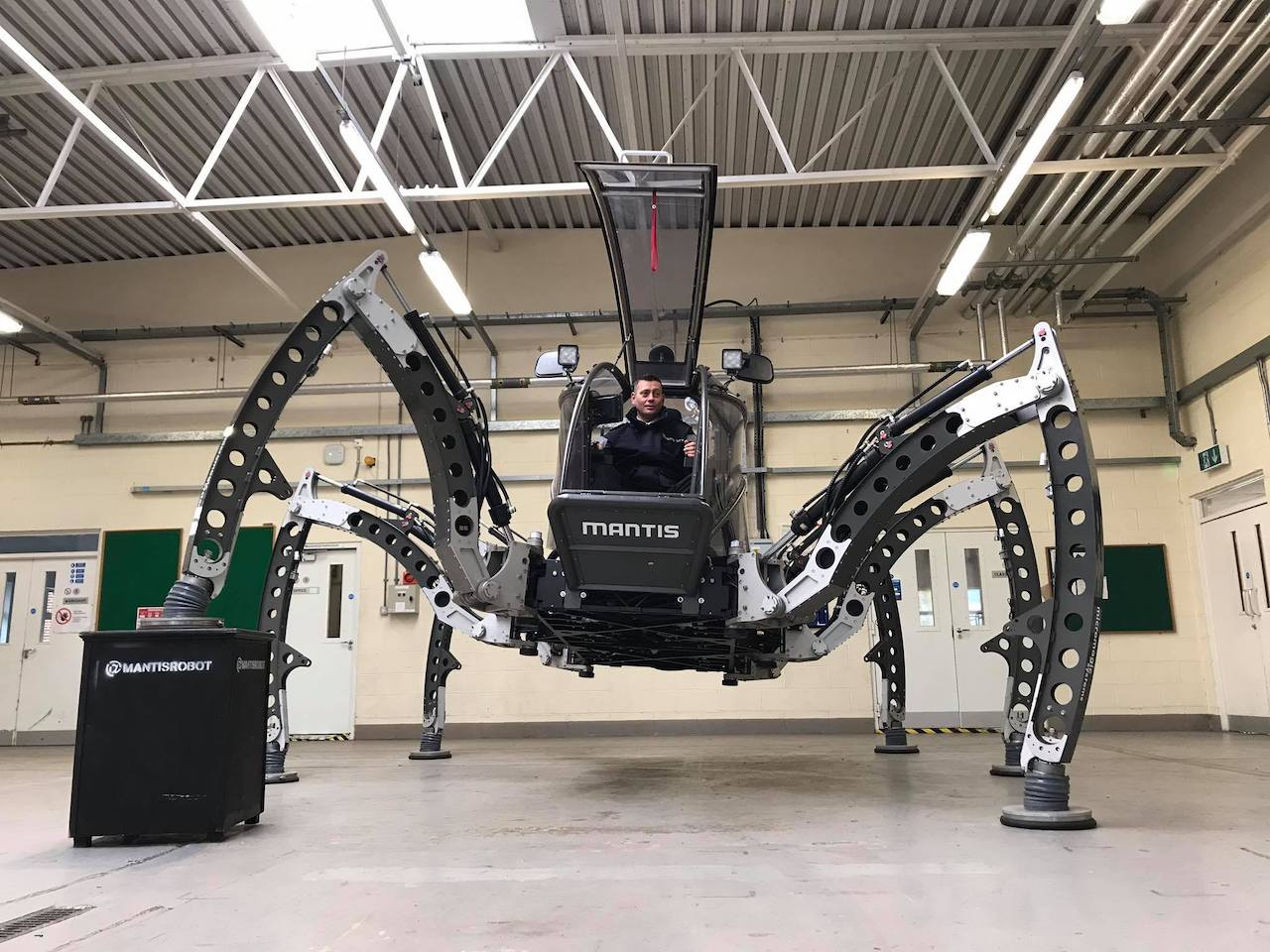 The Incredible 'Mantis' Robotic Walking Machine Sets World Record for 'Largest Rideable Hexapod Robot'