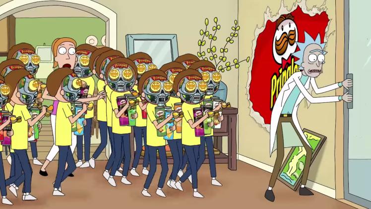 Rick and Morty Super Bowl Pringle Ad