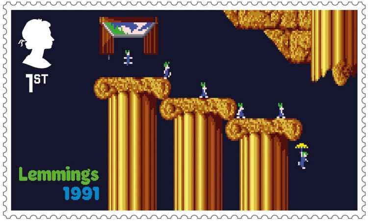 Royal Mail Stamps Lemmings