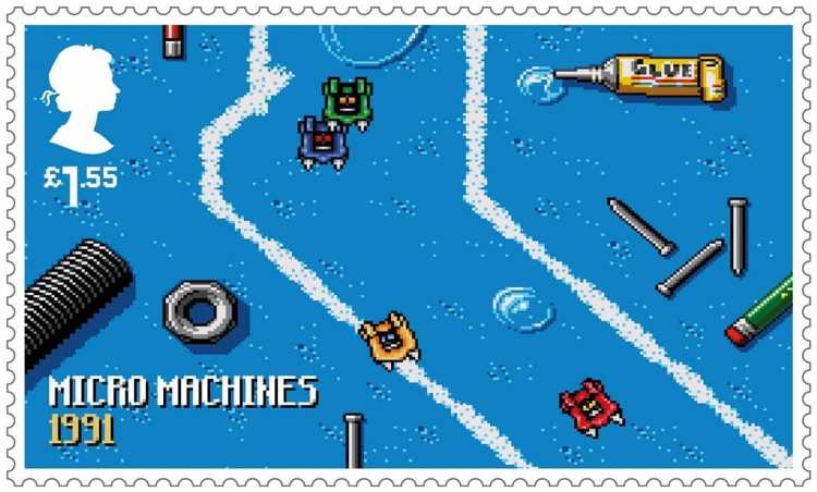 Royal Mail Stamps Micro Machines